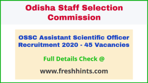 Odisha ASO Recruitment Notification 2020