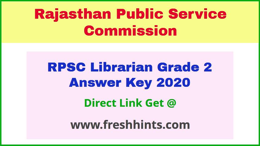 Rajasthan Librarian Grade 2 Answer Sheet 2020 Download