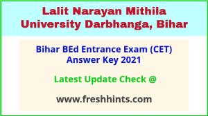 Bihar BEd Entrance Exam Answer Sheet 2021