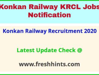 Konkan Railway Recruitment 2020
