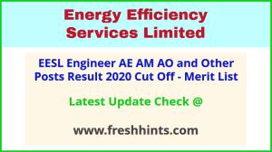 EESL India AE AM AO Officer Selection List 2020