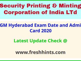 IGM Hyderabad Hall Ticket 2020