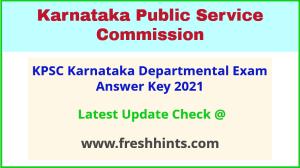 Karnataka Departmental Exam Answer Sheet 2021