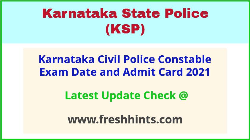 Karnataka Civil Police Constable Exam Call Letter 2021