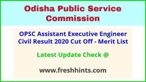 Odisha Assistant Executive Engineer Selection List 2020