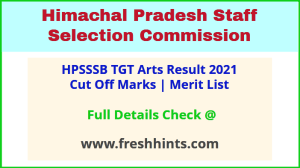HPSSC TGT Arts commission Selection List 2021