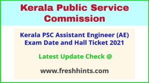 KPSC Kerala Assistant Engineer Exam Hall Ticket 2021
