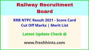 Railway Recruitment Board NTPC Selection List 2021