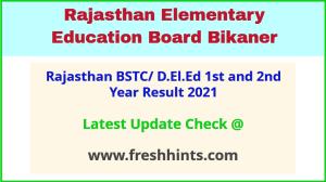 Rajasthan Shala Darpan DELED Part 1 2 Year Results 2021
