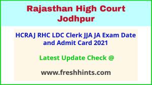 RHC LDC Exam Admit Card 2021
