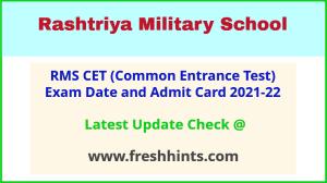 RMS CET Exam Hall Ticket 2021-22