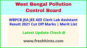 WB Pollution Control Board Engineer, Assistant Results 2021
