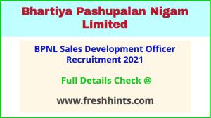 BPNL Sales Development Officer Recruitment 2021