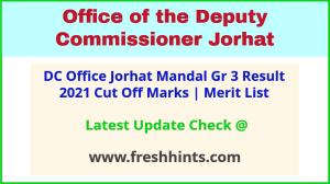 Jorhat DC Office Mandal Selection List 2021