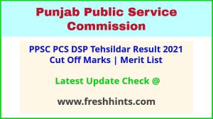 PPSC PSCSCCE Results Selection List 2021