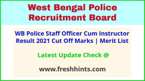 West Bengal Police Staff Officer Cum Instructor Selection List 2021