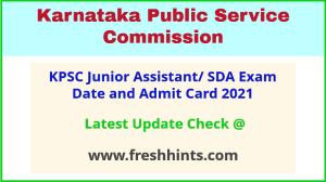 Karnataka Second Division Assistant Admit Card 2021