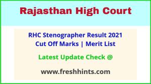 RHC Steno Selection List 2021