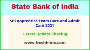 State Bank of India Apprentice Exam Call Letter 2021