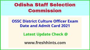 Odisha DCO Exam Admit Card 2021