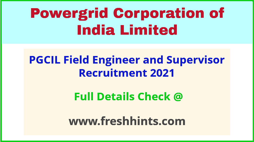 PGCIL Experienced Professional Vacancy 2021