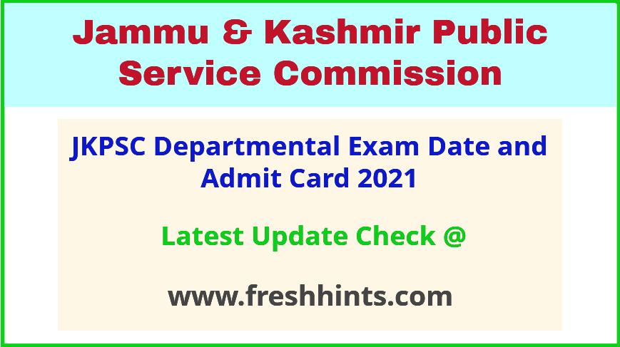 JK Departmental Exam Hall Ticket 2021