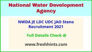 National Water Development Agency JE LDC UDC Vacancy Notification 2021