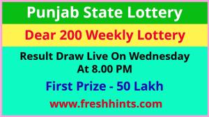 Punjab Lottery Dear 200 Wednesday Winner List 2021