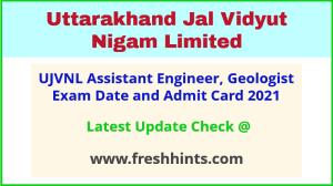 Uttarakhand Assistant Engineer Hall Ticket 2021