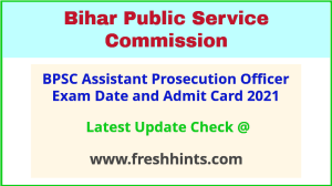 Bihar Assistant Prosecution Officer Mains Hall Ticket 2021