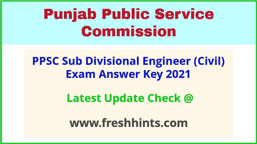 Punjab SDE Civil Exam Answer Sheet 2021