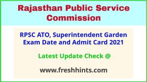 Rajasthan ATO Exam Hall Ticket 2021