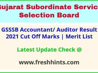 Gujarat Auditor Selection List 2021