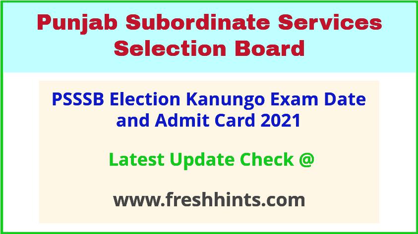 Punjab Election Kanungo Exam Hall Ticket 2021