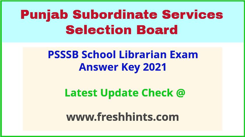 Punjab School Librarian Answer Sheet 2021