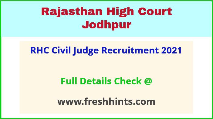 rhc CJ recruitment 2021