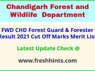 FWD CHD Forest Guard Selection List 2021