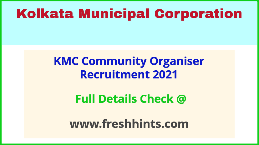 kmc community organiser recruitment 2021