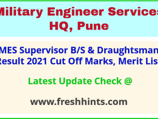 Military Engineer Services Selection List 2021