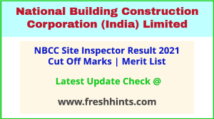 NBCC SI Civil Electrical Selection List 2021