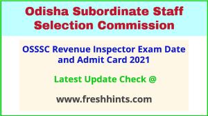 Odisha Revenue Inspector Exam Hall Ticket 2021