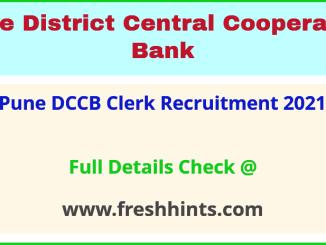 pune DCCB clerk Recruitment 2021