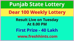 Punjab Lottery Dear 100 Tuesday Weekly Winner List 2021