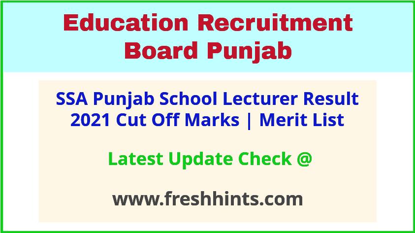 Punjab School Lecturer Selection List 2021