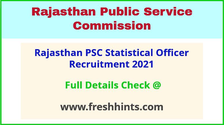 rajasthan PSC SO recruitment 2021