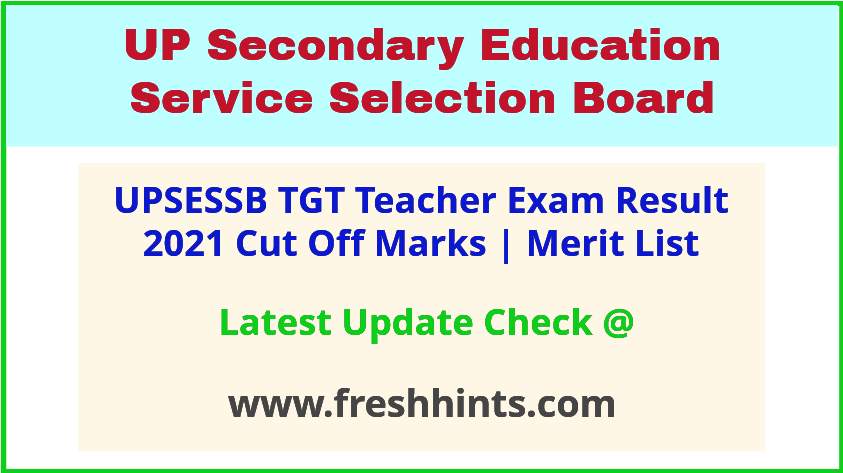UPSESSB TGT Teacher Selection List 2021