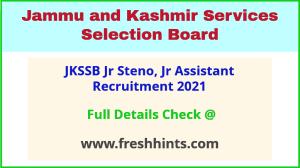 JKSSB Jr Assistant recruitment 2021