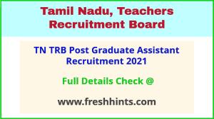 TN TRB post graduate assistant recruitment 2021