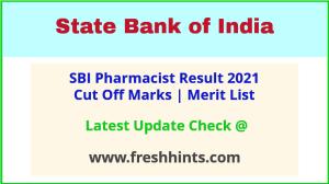 SBI Pharmacist Selection List 2021