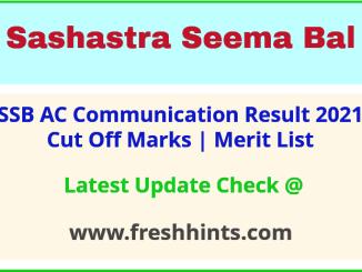 SSB AC Communication Selection List 2021
